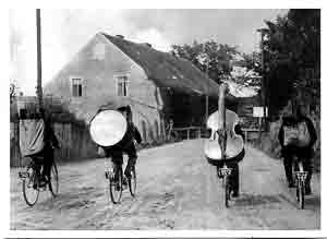 double bass on bike
