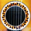 all wood guitar sound hole
